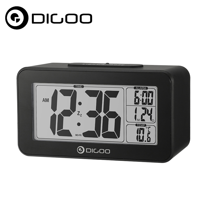 Digoo DG-C4 Digital Sensitive White Backlit LCD Thermometer Desk Alarm Clock Dual Alarm With Snooze for Smart Home Automation laptop keyboard for hp for envy 4 1014tu 4 1014tx 4 1015tu 4 1015tx 4 1018tu backlit northwest africa 692759 fp1 mp 11m6j698w