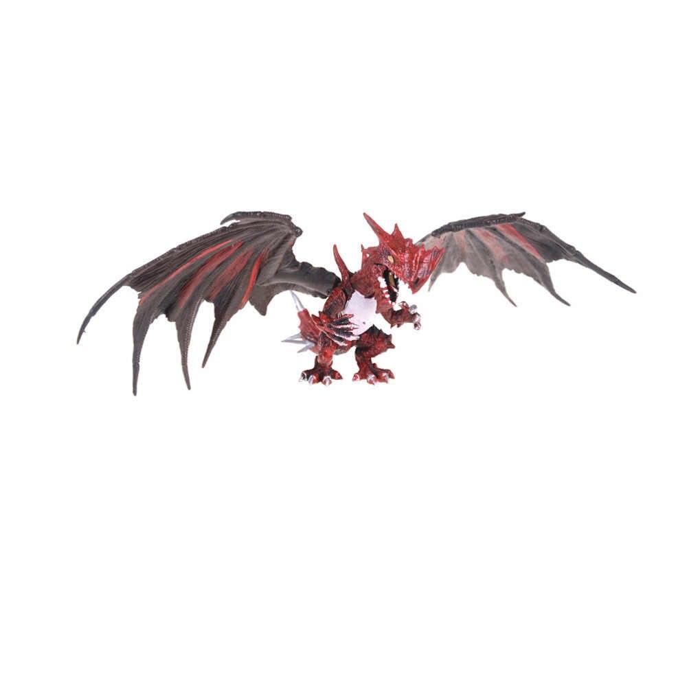 4 pçs/set clássico diy montagem dinossauro dragões com asas monstro figuras de ação jurássico idade educacional crianças brinquedos do bebê