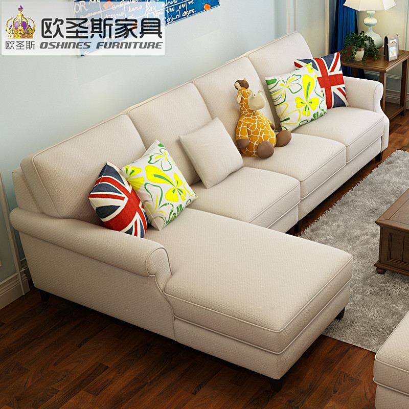 New arrival American style simple latest design sectional l shaped corner living room furniture fabric sofa set prices list F75F luxury l shaped sectional living room furniutre antique europe design classical corner wooden carving fabric sofa sets 6831