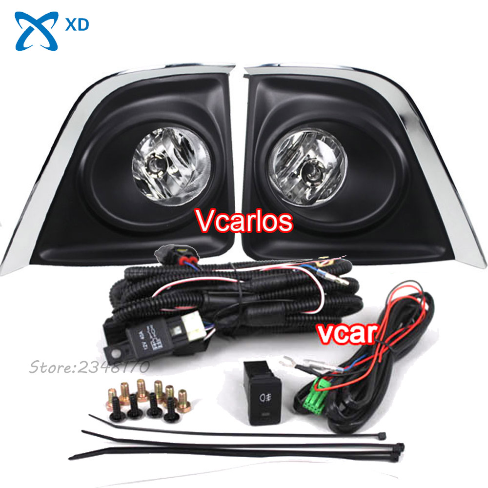 High quality fog lamps safety fog lights for toyota corolla 2014 on with clear lens