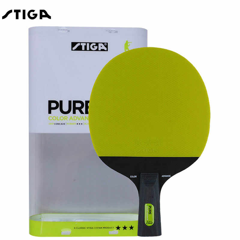 New Stiga Pure Color Advance Series Table Tennis Racket 5 Ply Blade Double Pimples-in Rubber Ping Pong Rackets