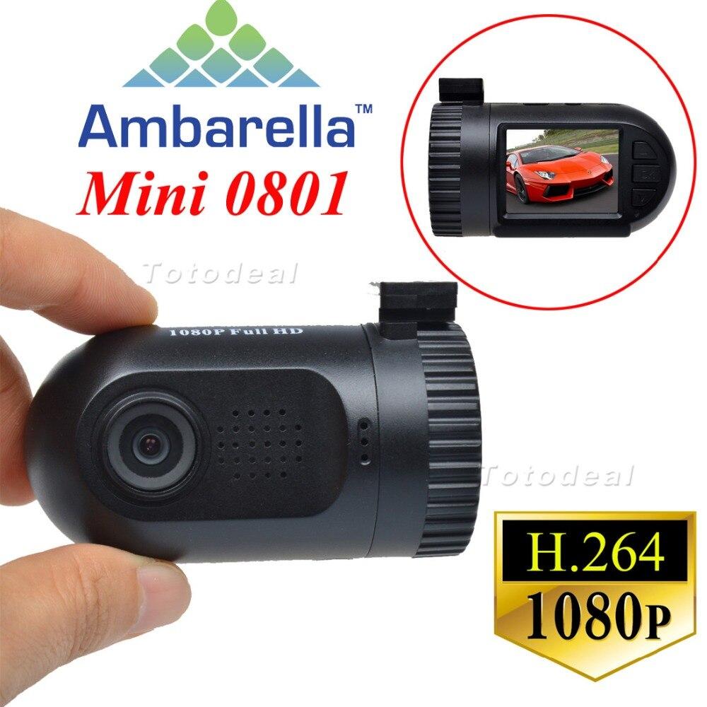 1 5 Portable Mini HD 0801Ambarella A2S60 1080P 135 Degree Wide Angle Car Video Recorder DVR