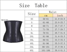 MUKATU Latex Waist Trainer Corset Belly Slimming Underwear Belt Sheath Body Shaper Modeling Strap 25 Steel Boned Waist Cincher