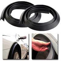 2 uds. Universal protector contra salpicaduras de coche Flare extensión rueda moldeado de cejas ajuste rueda arco tira adecuada para todos los coches