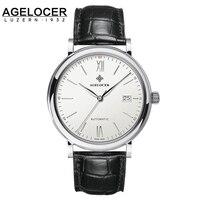 AGELOCER מותג קלאסי לגברים שעונים מכאניים 40 מ