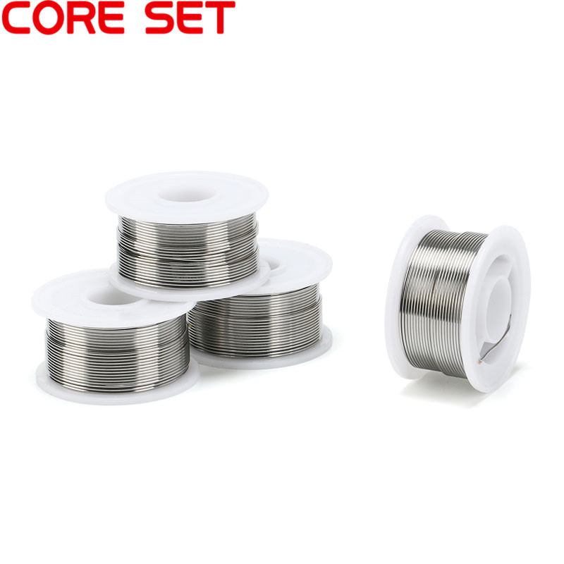0.6/0.8/1mm 100g Tin Lead Tin Wire Flux 2% Melt Rosin Core Electric Iron Accessories Solder Soldering Wire 63/37 Spool Reel 1mm 500g rosin core solder 60 40 tin lead 2 0