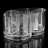 10 Pcs Of VSEN Hot Cosmetic Storage Box Clear Acrylic Heart Shape