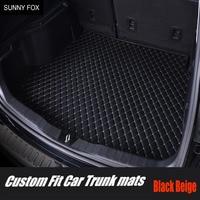 car trunk mats for BMW F10 F11 F15 F16 F20 F25 F30 F34 E60 E70 E90 1 3 4 5 7 Series GT X1 X3 X4 X5 X6 Z4 6D car styling carpet