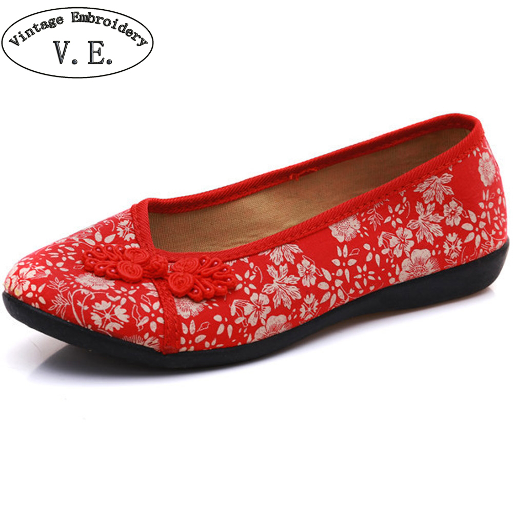 New Arrive Women Shoes Flats Old Beijing National Single Shoes Chinese Bride Embroidery Ballet Drive Shoes For Cheongsam weowalk 5 colors chinese dragon embroidery women s old beijing shoes ladies casual cotton driving ballets flats big size 34 41