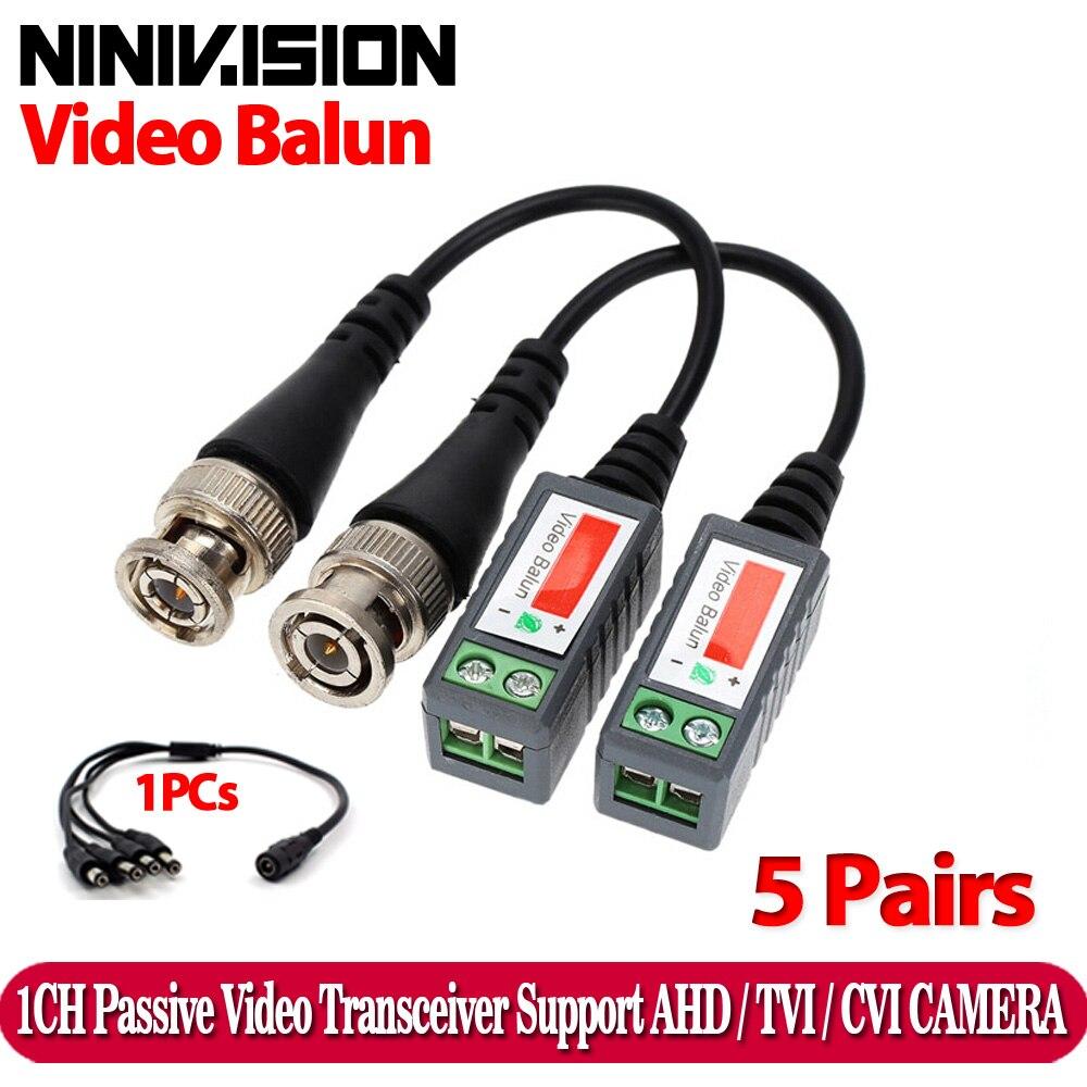 10 pçs plástico abs cctv vídeo balun cctv acessórios transceptores passivos 2000ft distância utp balun bnc cabo cat5 cabo|cable series|cable cbrcabl bar -