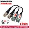 10 sztuk z tworzywa sztucznego ABS CCTV Balun wideo CCTV akcesoria pasywne transceivery 2000ft odległość UTP Balun kabel BNC CAT5 kabel