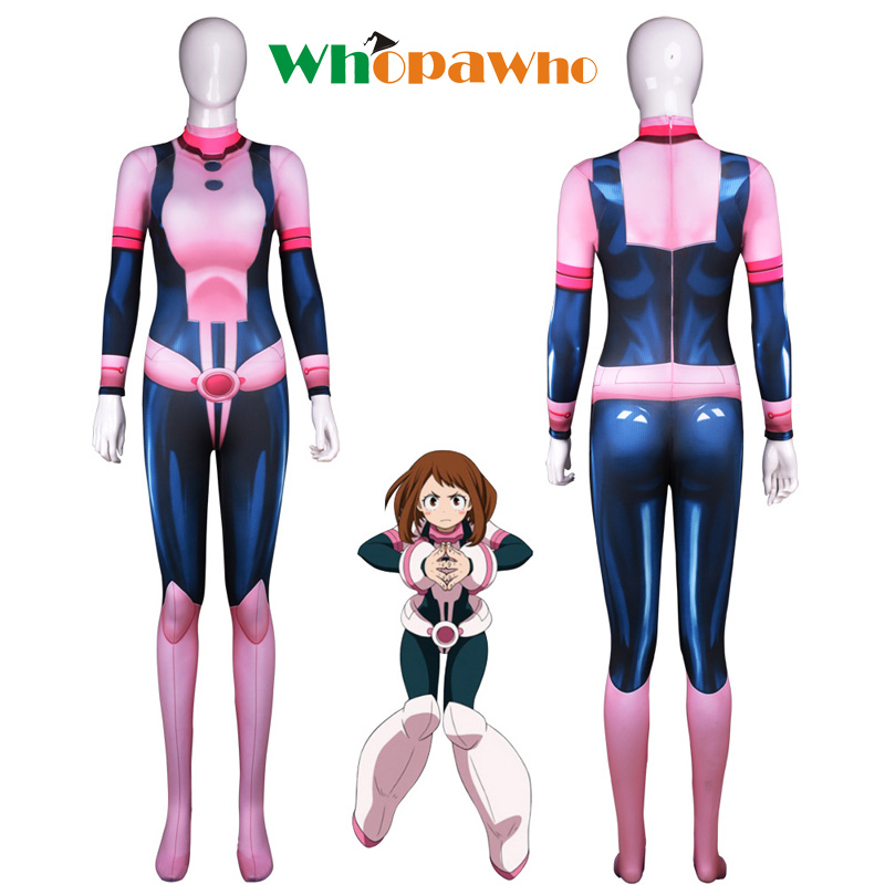 3D royal tea cosplay Halloween game anime my hero academy beautiful day body fitted body clothes jumpsuits