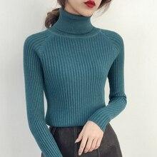 La mujer cabeza de manga corta Camisa de cuello alto coreano de invierno  abrigo de manga larga suéter del todo-fósforo Harajuku . 641a0a8016da