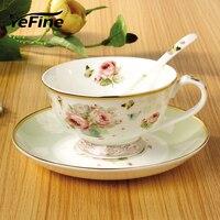 YeFine Céramique Creative Cadeau Européenne Royal Porcelaine Verres à Thé Tasse Tasses À Café Et Soucoupes Poterie Verres Ensemble