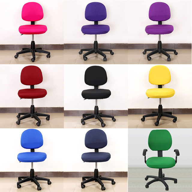 Elastic Fabric Spandex Seat Covers For Computer Chairs Office Chair