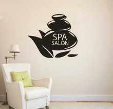 Special Spa Logo Wall Decal Girls Beauty Salon Vinyl Wall Stickers Modern Spa Salon Interior Decor Home Window Art Mural SY184