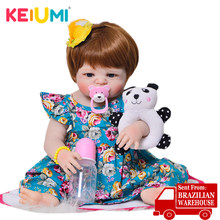 KEIUMI Full Body Silicone Vinyl Reborn Baby Doll Realistic Newborn Doll Toys Wholesale Reborn Menina Playmates Gift(China)