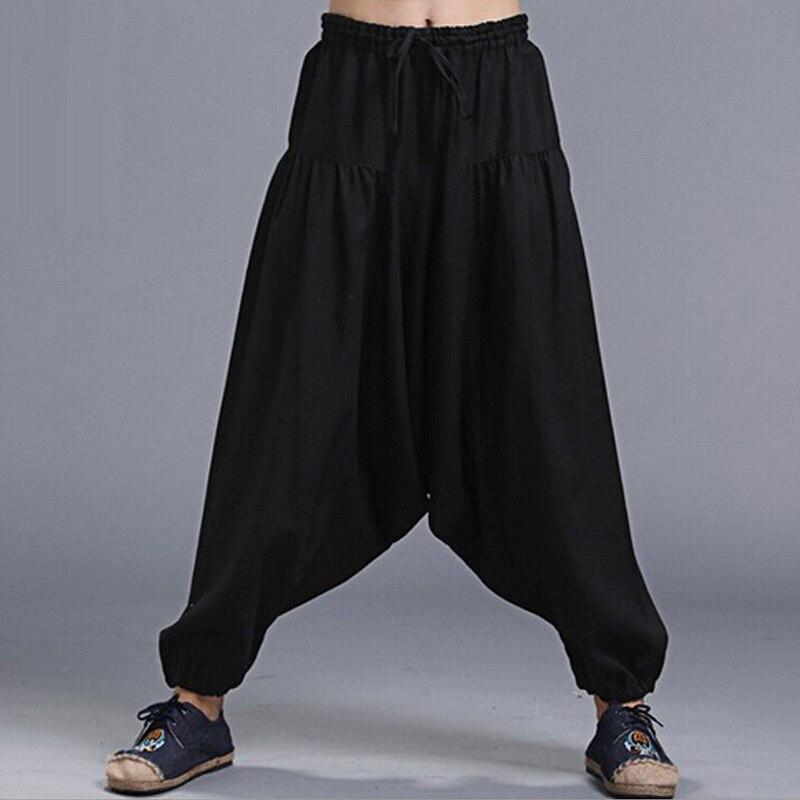 Moda Pantaloni de lenjerie natural Harem Pantaloni pentru barbati - Imbracaminte barbati
