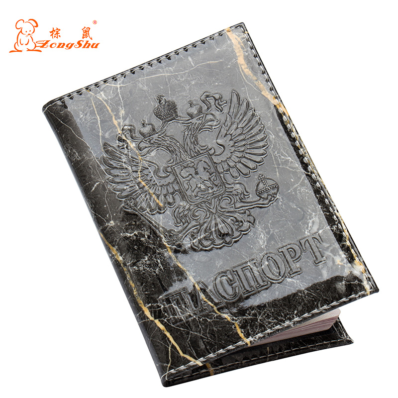 Black Marble Convenient Pu Leather Double Headed Eagle