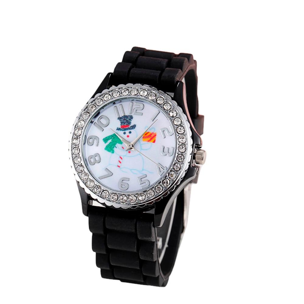 2017 Christmas Silica Gel Quartz Analog Watch as Christmas Gift Y794*