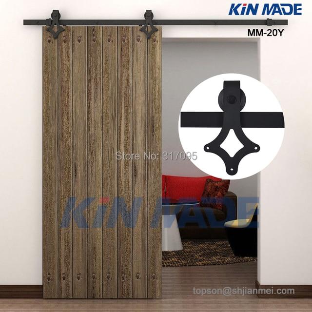 kin made livraison gratuite grange en bois porte kits porte coulissante piste maison r novation. Black Bedroom Furniture Sets. Home Design Ideas