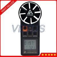 Az8904 цифровой анемометр 0.4 30 м/с ветер Скорость метр с скорости воздуха Скорость измерительных инструментах Температура тестер