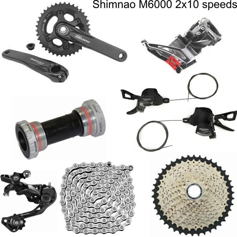 5a86e55b42c Detail Feedback Questions about Shimano DEORE M6000 7 PCS 3X10 2x10 Speed  Groupset HG500 10 11 42T M6000 Rear Derailleur Shift Lever Crankset+Free  shipping ...