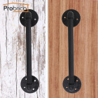 Probrico Furniture Handle Black Barn Door Gate Knobs And Handles Pack Of 2 Sliding Flush Door Warehouse Garage Hardware Steel