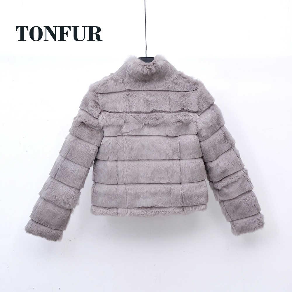 Geschert Standard Kragen Kurze Mantel 2019 Neue Muss Einzelteil Haben Trend Pelz Marke Ganze Haut Echt Kaninchen Pelz Jacke TSR253