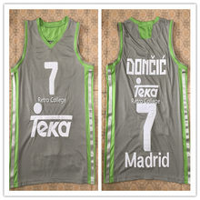Luka Doncic slovenija men s White bule gray BASKETBALL JERSEY Embroidery  Stitches Customize any size and name 94cb7fa61