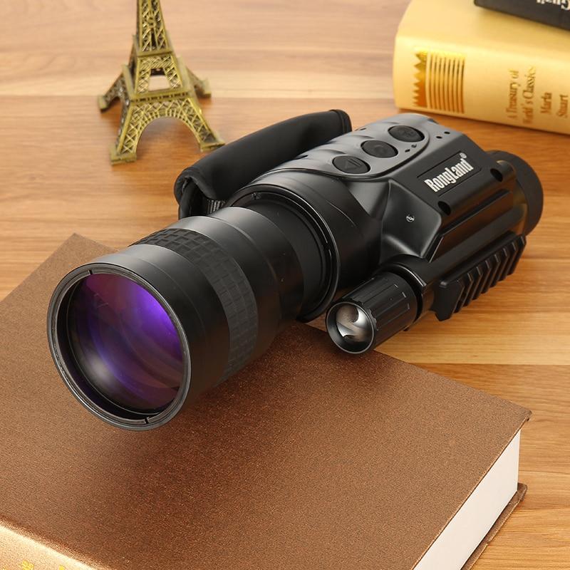 Rongland NV-760D + Vision Nocturne Infrarouge de Chasse IR Monoculaire Télescopes 7x60 + 3 Batteries + Chargeur Enregistrement Vidéo dispositif