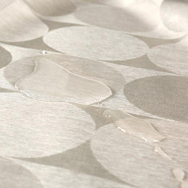 Elegante Cerchio Solido Tenda Della Doccia Tessuto di Poliestere di Spessore Impermeabile Tenda della Vasca Da Bagno Della Muffa Semplice Set Da Bagno Partizione Tenda
