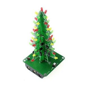 Image 4 - 2020!สามมิติ3Dต้นคริสต์มาสLED DIYชุดสีแดง/สีเขียว/สีเหลืองRGB LEDแฟลชชุดวงจรอิเล็กทรอนิกส์สนุกSuite