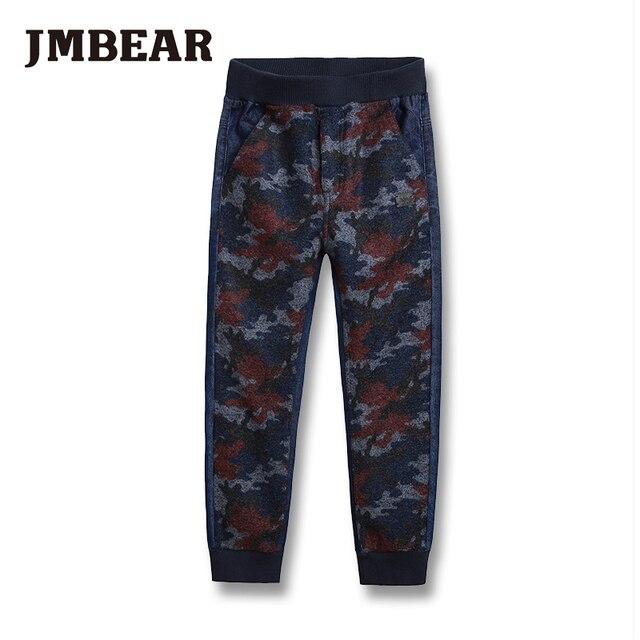 JMBEAR мальчиков джинсы 6-14 лет мода дизайн длинные жан для детей девочек денима пант брюк 2016 новый