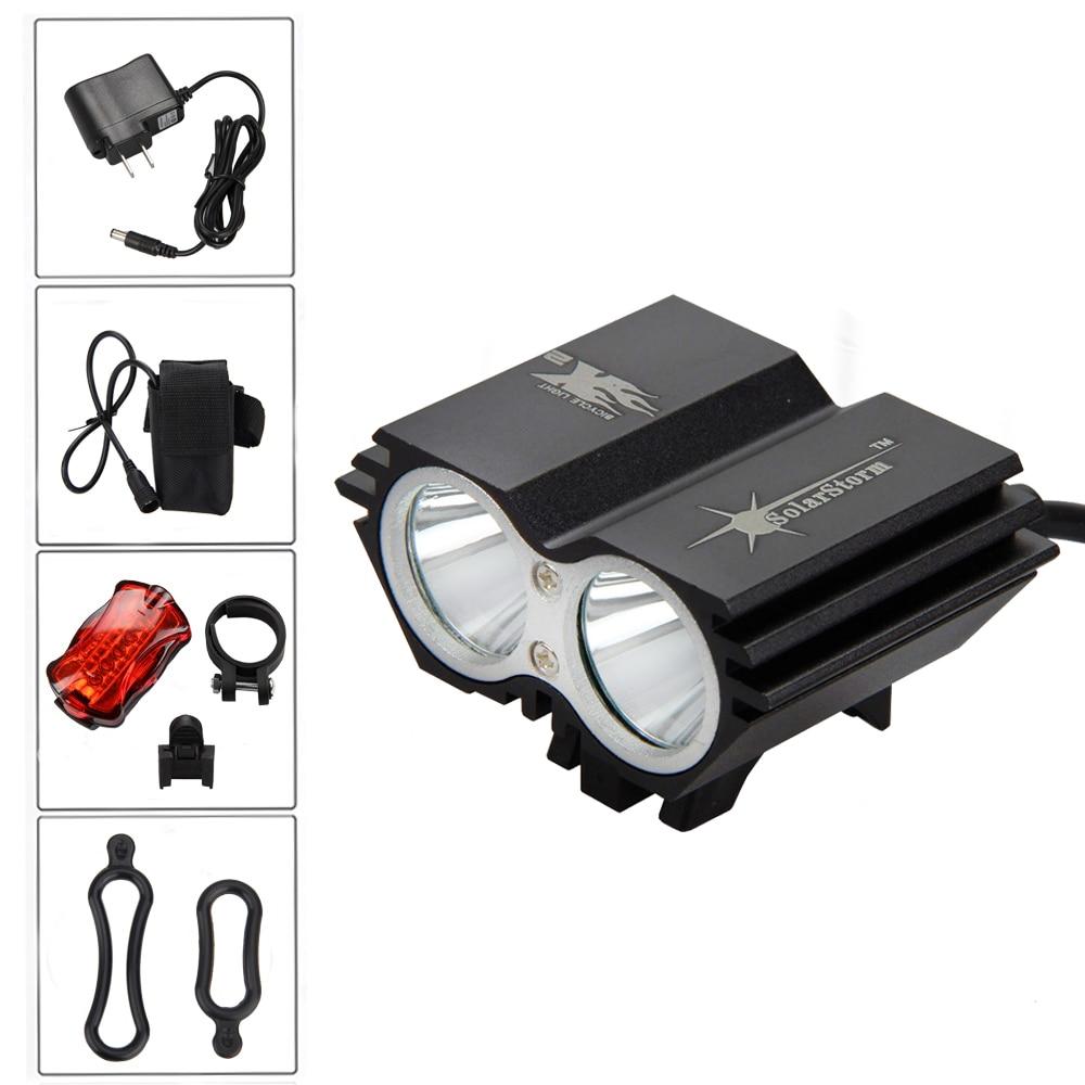 6000Lm 2x XML U2 LED Bicycle Bike HeadLight Cycling Head Lamp 16000mAh Battery Bike Light with Safety Rear Light sitemap 21 xml