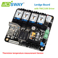 3DSWAY 3D Printer Board 32bit with Thermistor Lerdge Controller 4pcs TMC2100 Support XYZ Delta Corexy Prusa I3 3D Printers