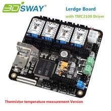 3 DSWAY Impresora 3D Tablero de Controlador de $ number bits con Termistor Lerdge 4 unids TMC2100 Apoyo XYZ Delta Corexy I3 Prusa 3D impresoras