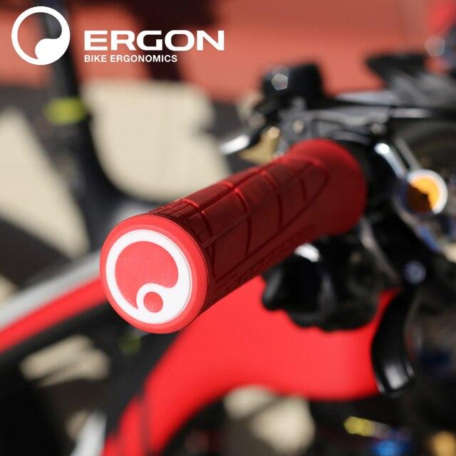 دراجة هوائية جبلية خفيفة الوزن قفل القبضات ERGON GA1 Evo القائمة على السيليكون دراجة مطاطية مقبض مقود دراجة الدراجات شريط نهاية جبل المشبك القبضات