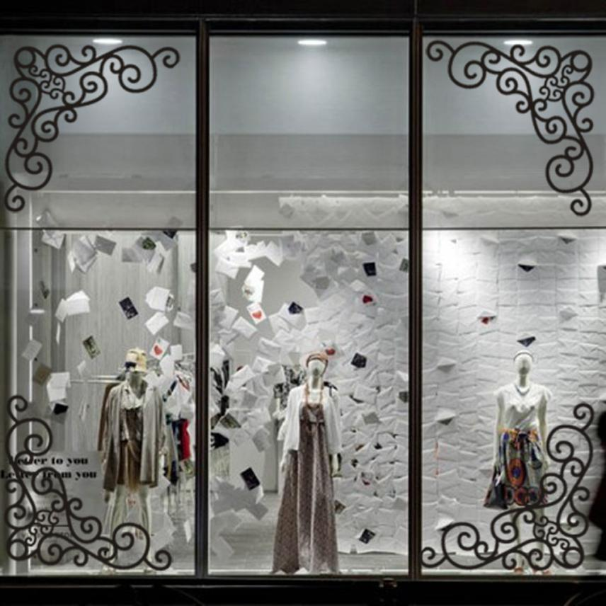 KAKUDER 4Pcs DIY Wall Decal Decor Window Bath Room Mirror Art Sticker Removable Paper July17 Drop Shipping