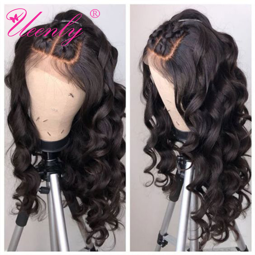 UEENLY Wig Lace-Front-Wigs Human-Hair Body-Wave Pre-Plucked Brazilian 360 with Baby