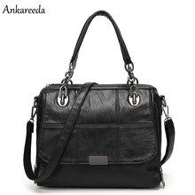 Ankareeda marca nuevas mujeres bolso de mano de alta calidad de LA PU bolso de hombro sólido bolsas de mensajero maletín bolso de las mujeres de lujo Caliente