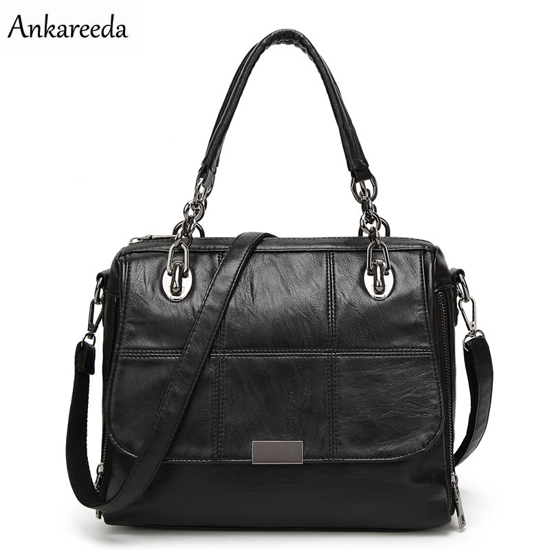 Ankareeda brand new fashion women tote bag high quality PU handbag solid shoulder messenger bags Hot briefcase luxury women bag hot sale 2016 new fashion women girls winter warm wallet high quality tote bag card pack small hairy bag handbag
