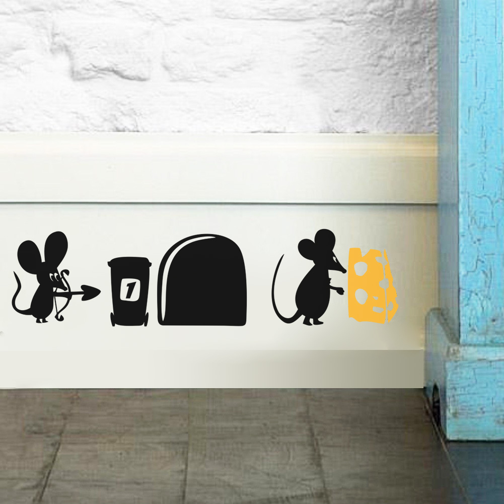 Mini Mouse Mice Rat Hole House for Home Wall stickers decal Living room Bedroom