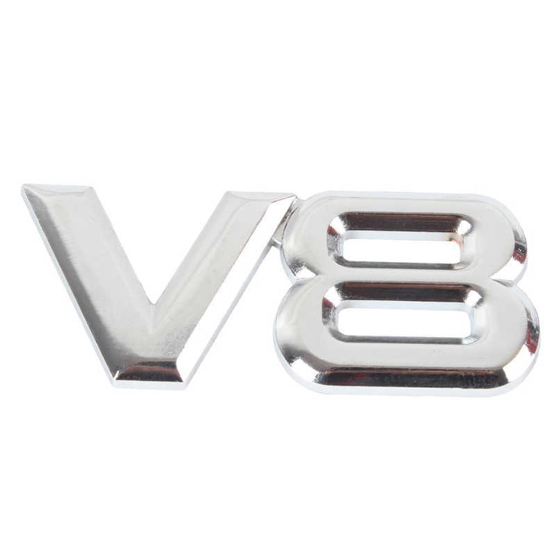 Dsycar 1Pcs 3D Metal Chrome V8 Auto Sticker Logo Embleem Decal Badge Auto Body Sticker Universal, auto decoratie sickers
