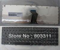 Free shipping Laptop keyboards for Lenovo Ideapad Z560 Z560A Z565 Z565A RU Black with gary frame laptop keyboard