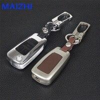 Maizhi 4 סגסוגת אבץ + כפתורי מקרה מפתח מכונית עור כיסוי עבור שברולט מליבו Cruze לאופל Insignia Zafira אסטרה J C מוקה