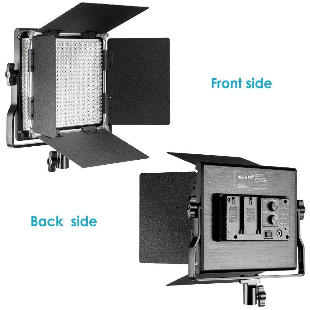 Neewer 3200-5600 К Двухцветный затемнения CRI 95 660 светодиодный свет + U кронштейн Шторки для Studio /YouTube/фото/видео ЕС разъем