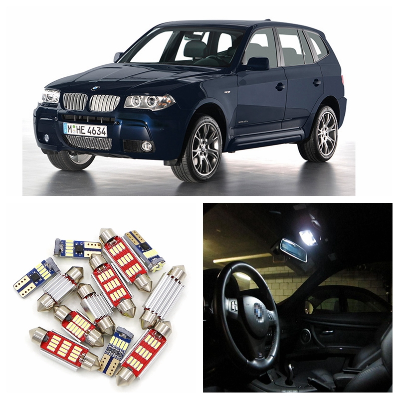 17pcs Canbus Car Super Bright White LED Car Light Bulbs Interior Package Kit For 2005-2010 BMW X3 E83 Map Dome Door Lamp e cap aluminum 16v 22 2200uf electrolytic capacitors pack for diy project white 9 x 10 pcs