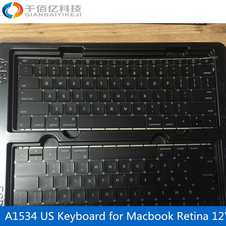 Laptop otiginal A1534 Keyboard for font b Macbook b font Retina 12 US keyboard 2016