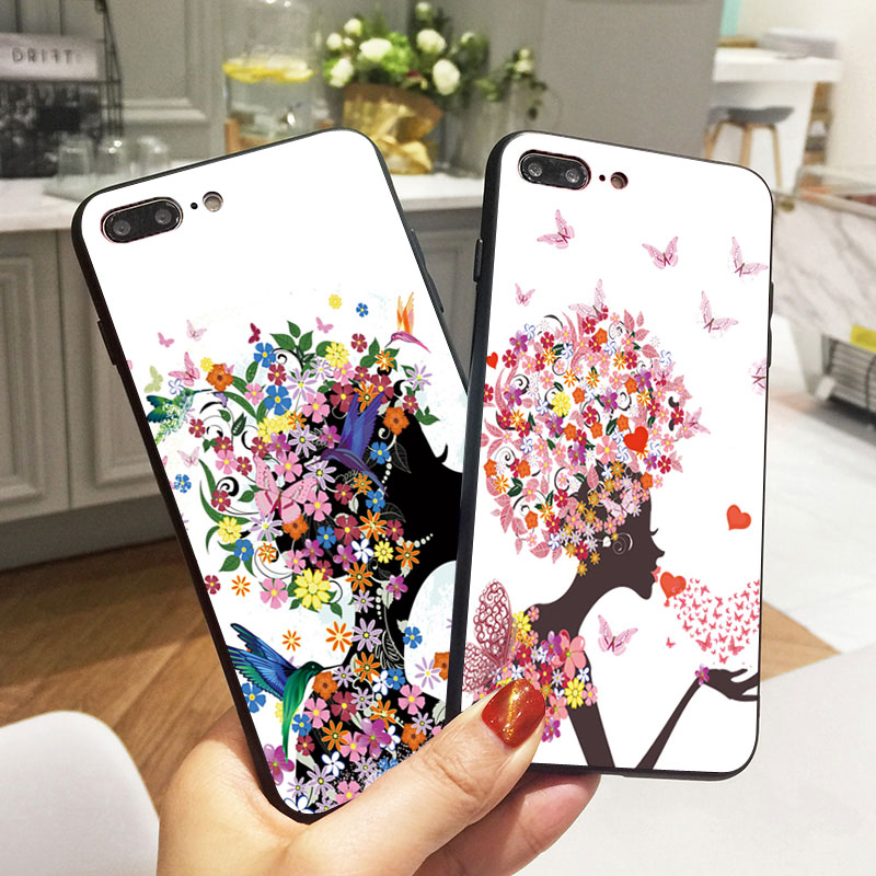 luxury butterfly girls case art fashion floral women silicone phone
